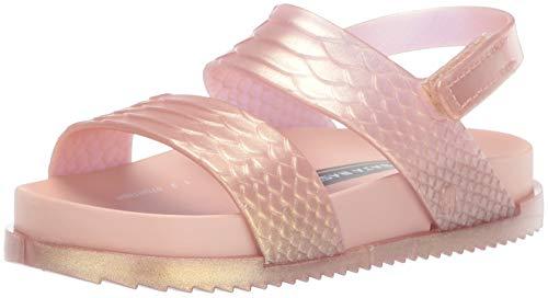 mini melissa Girls' Mini Cosmic Sandal + Baja East Slipper, Rose Gold, 9 Medium US Toddler
