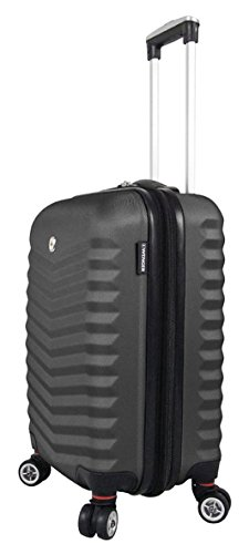 Wenger Fribourg Hardside Collection Maleta, 47 cm, 40 liters, Negro (Black)