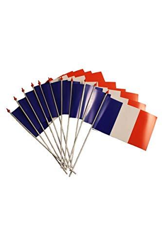 100 drapeaux en plastique de 9,5 x 16 cm