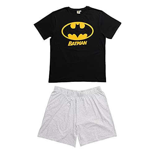 United Labels Batman Pyjama court pour homme Noir Gris - Noir - XL