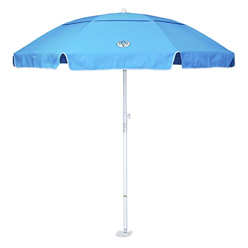 dig-git Beach Umbrella w/Integrated Anchor - Navy Blue
