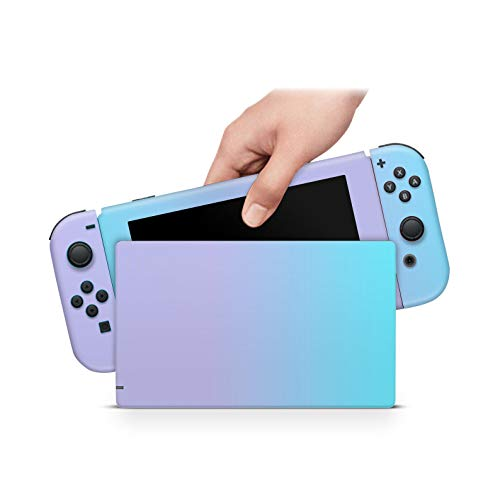 ZOOMHITSKINS Pastel Degrade Turquoise Purple Lavender Ombre Blue Pink Rose High Quality 3M Vinyl Decal Sticker Wrap, Bubble-free Install, Goo-free Removal, Nintendo Switch Compatible, Made in the USA