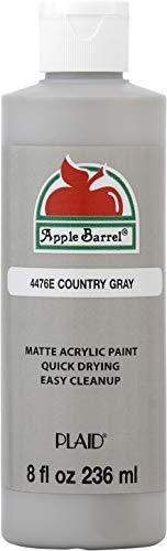 Apple Barrel Acrylic Paint, 8 Ounce, Country Gray 8 Fl Oz