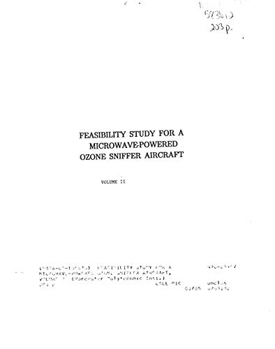 Feasibility study for a microwave-powered ozone sniffer aircraft, volume 2 (English Edition)