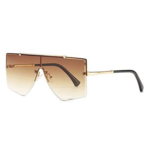 LUOXUEFEI Gafas De Sol Gafas De Sol De Gran Tamaño Mujer Hombre Gafas De Sombra