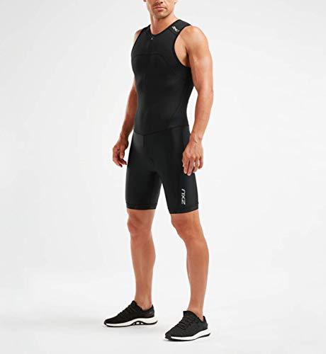 2XU Herren Active Triathlon suit-MT5540d Trisuit, schwarz/schwarz, L