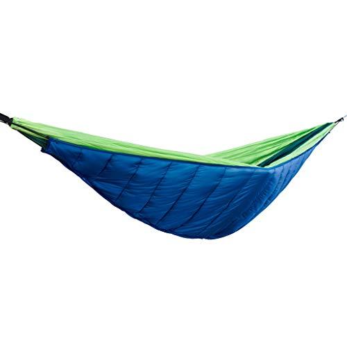 ZZL Hamaca para acampar individual Hamacas de camping, cama oscilante para 4 estaciones, ideal para jardín, patio, exterior, portátil, color azul