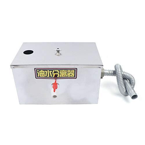 40 x 25 x 23cm Edelstahl Fettabscheider Interceptor Küche Abwasser Fettseparator Ölabscheider Küche Grease Trap(0,2 m3 / h)