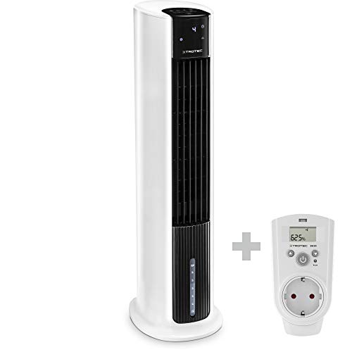 TROTEC Aircooler PAE 30 mobile Klimaanlage 3-in-1-Luftkühler Luftbefeuchter Ventilator 4 Gebläsestufen 7 l Tank Verdunstungskühlung Luftfilter inklusive Steckdosenhygrostat BH30