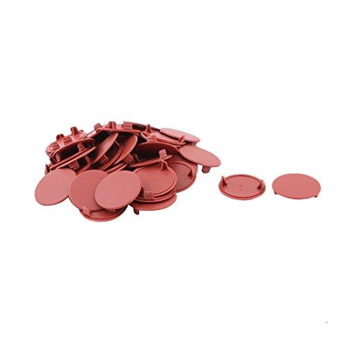 sourcingmap Design rond plast Housse Perçage chape vis marron 44pcs