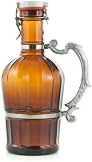 Brown Classic Growler With Romantic Handle 2 Liters