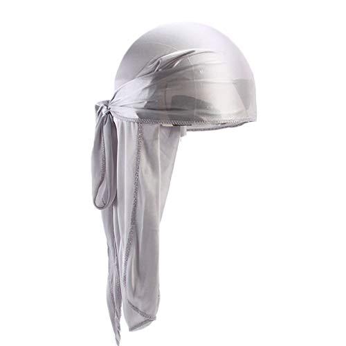 iYmitz Sommer Solide Kopftücher Herren Und Damen Silk Polyester Bandana Hut Durag Rag Tail Headwrap Kopfbedeckung Geschenk(Splitter,One size)