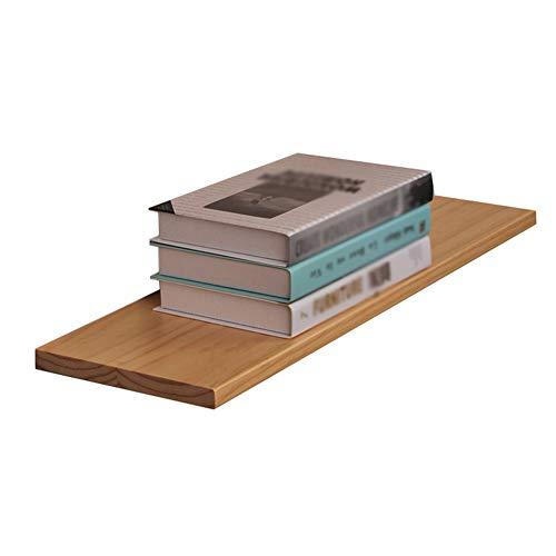 Ronghuafugui Scaffali da Parete fluttuanti Divisorio in Una Sola Parola Libreria in Legno massello Soggiorno Scaffale Semplice 3 Colori 3 Dimensioni (Color : Walnut Color, Size : 80X20CM)