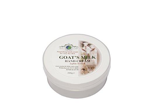Crème Mains Lait de Chèvre. Pour le psoriasis eczéma peau sèche Dermatite rosacée Sensible, fabriqué par Elegance Natural Skin Care en Grande-Bretagne