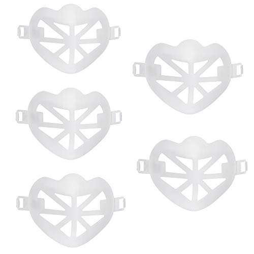 Marco Interno De Soporte Facial, 6 Piezas De Marco Transparente 3D, CÓModo, Reutilizable Y Limpiable, Marco Lavable, Diseñado Para Nariz Y Boca, Puede Respirar De Forma Segura Y Mantener La