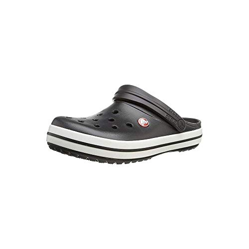crocs Unisex-Erwachsene Crocband U Clogs, Schwarz (Black/White), 46/47 EU