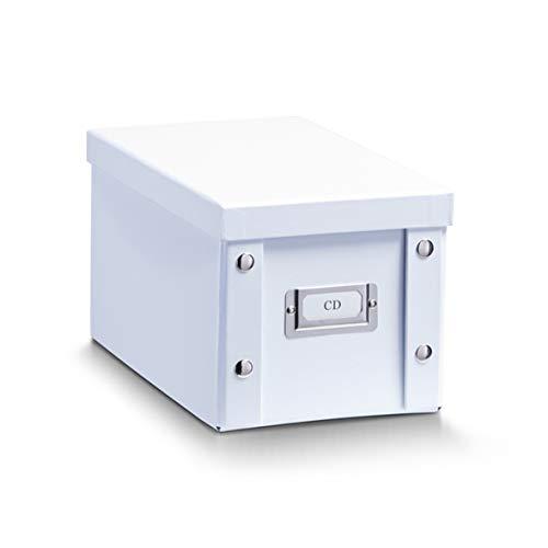 Zeller 17760 CD-Box, Pappe, weiß, ca. 28 x 16,5 x 15 cm