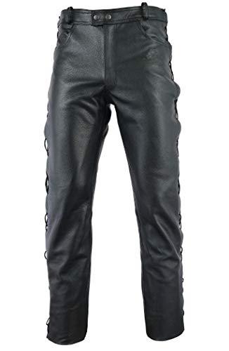 Gaudi-Leathers Motorrad Lederhose seitlich Geschnürt Motorradhose Leder Jeans 38