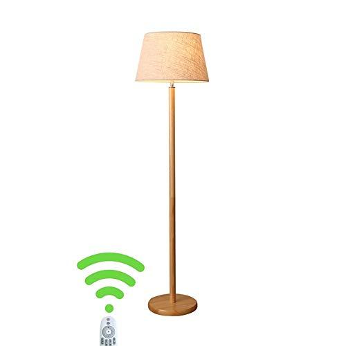 EIU houten vloerlamp zuil vloerlamp voor woonkamer slaapkamer werkkamer creatieve moderne staande lamp, 155cm M20-02-24