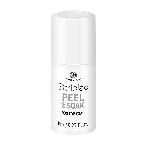 alessandro Striplac Peel or Soak Top Coat – LED-Überlack für eine perfekt glänzende Farblackierung – Schützt & versiegelt für bis zu 3 Wochen – 1 x 8ml