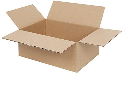 50 Faltkartons 250 x 175 x 100 mm | 1-welliger Versandkarton | Kartons geeignet für Versand mit DPD, GLS und Hermes