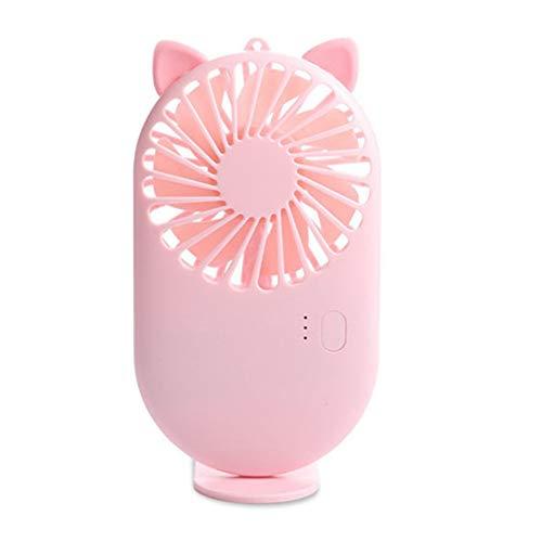 NHY Leuke ventilator handzame draagbare mini handheld USB oplaadbare desktop ventilatormodus instelbare zomerkoeler voor buiten reizen Office opvouwbare snelheid koeltas stil klein