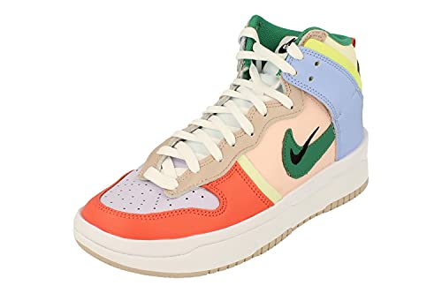 Nike Mujeres Dunk Hi Up Trainers DH3718 Sneakers Zapatos (UK 5 US 7.5 EU 38.5, Cashmere Green Noise 700)
