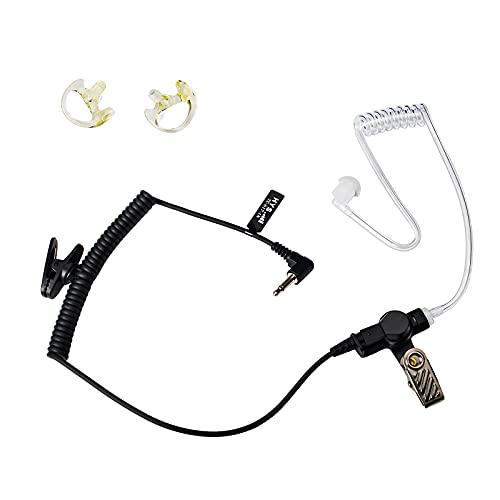 TWAYRDIO Walkie Talkie 3.5mm auricular tubo de aire encubierto auriculares con un...