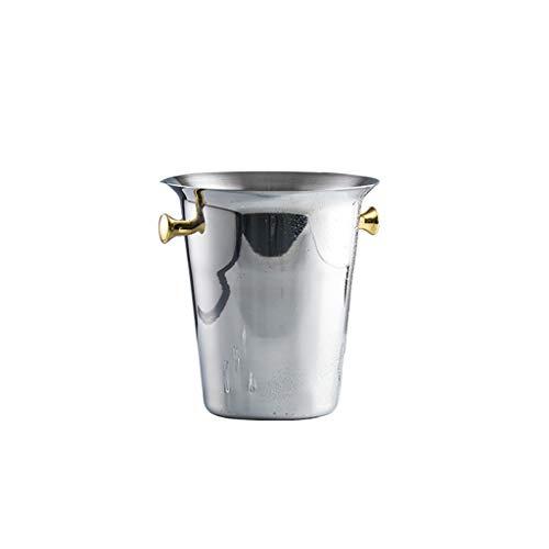 YIFEI2013-SHOP Cubitera Cubo de Hielo de Acero Inoxidable Cubo de Hielo Portátil Bucket Hotel Bucket Champagne Bucket Bebida Bucket Fiesta Actividades y Camping Vajilla Cubo de Hielo (Color : B)
