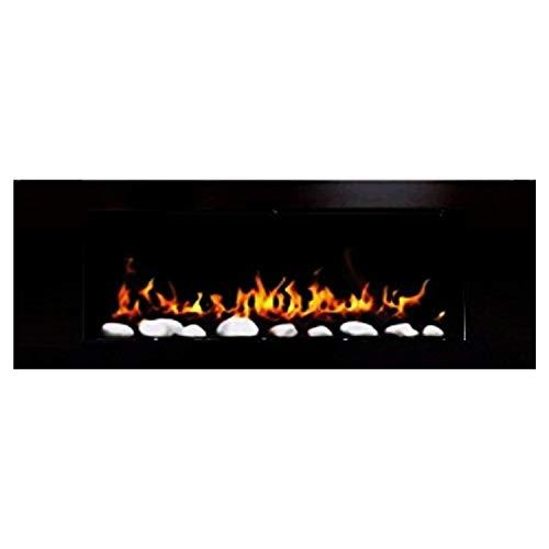 Caminetto da parete in gel e etanolo, bianco – Design elegante – 1000 e una notte (nero lucido)