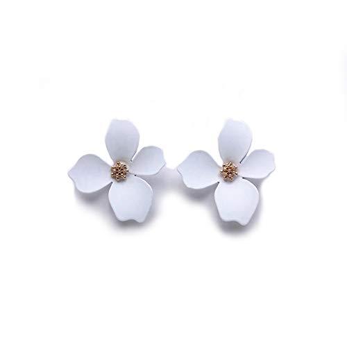 EXINOX, Orecchini a forma di fiore da donna | eleganti, per la primavera/estate e Acciaio inossidabile, colore: bianco, cod. EX-P-1184