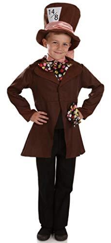 Fancy Me Jungen Verrückter Hutmacher Alice im Wunderland büchertag Halloween Kostüm Kleid Outfit 4-12 Jahre - Braun, Braun, 3-5 Years