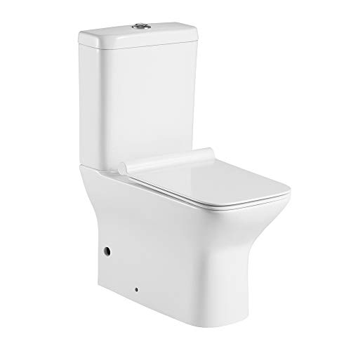 Armobany Pack WC cerámico con salida dual y sistema Rimless, blanco brillo