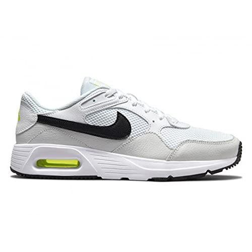 Nike Air Max SC, Scarpe da Corsa, White/Black-Photon Dust-Volt, 42 EU