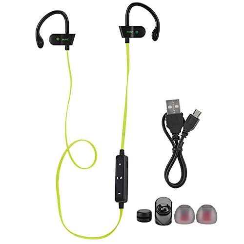 Mxzzand Auricular Bluetooth Auricular Dual Tapón para los oídos para Smartphone para Deportes para Entrenamiento para Oficina(Yellow, Pisa Leaning Tower Type)