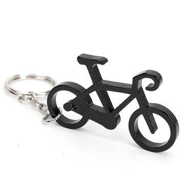 Llavero de botella de vino y cerveza para bicicleta, color negro