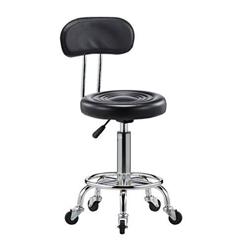 LXYPLM Taburetes de Bar Taburete de Masaje Beauty Therapy Salon Manicure Tattoo Chair, Elevador hidráulico y con Respaldo y Giratorio (con 5 Ruedas)