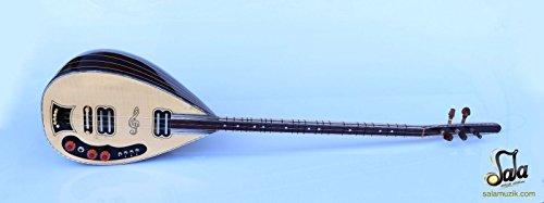 Wenge Electric Electro Baglama Saz ASEL-104 - Cuello largo