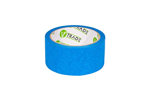V1 Trade - Masking Tape - Blue Tape, UV-Resistant, Waterproof, Blue Painters Tape for Indoor and Outdoor 48 mm x 25 m - 1 Roll