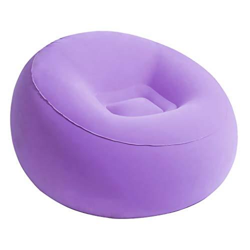 perfeclan Inflar El Cojín Plegable del Sofá de La Tumbona de La Playa Que Acampa - Púrpura