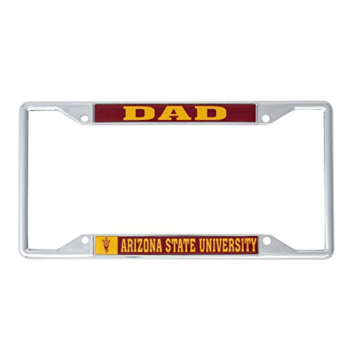 Desert Cactus Arizona State University Metal License Plate Frame for Front Back of Car Officially Licensed (Dad)