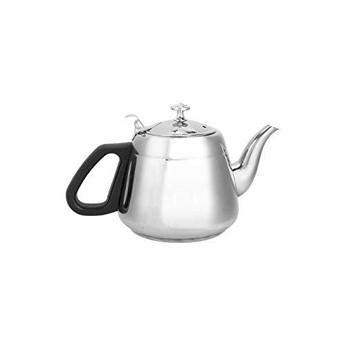 Tetera, utensilios de cocina hervidores de agua prácticos para el hogar de acero inoxidable con mango anti-escaldado (1.5L)