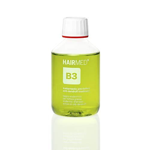 HAIRMED - B3 Shampoo Antiforfora Professionale per Capelli - Combatte la Forfora Grassa e la Dermatite Seborroica - 200 ml