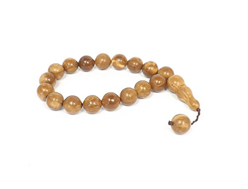 Gebetskette 'Kuka' Tesbih Tasbih Tespih Misbaha Subha 33 Perlen - Braun Holz