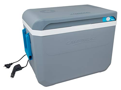 Campingaz Powerbox Plus 36L, Nevera portatil eléctrica de 12 V y 230 V, Espacio para 10 Botellas de 1,5 l, Nevera termoeléctrica para el Coche y acampadas, con protección UV, Capacidad de 36 litros