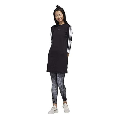 adidas Damen W AAA Dress Kleid, schwarz/weiß, Medium