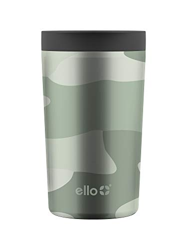 Ello Jones Stainless Steel Travel Coffee Mug - Travel Tea Mug, 11oz, Camo