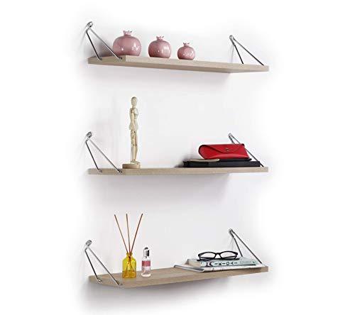 Vivense Altai Set van 3 Drijvende Wandplanken - Wandmontage Plank - Wanddecoratie & Home Opslag