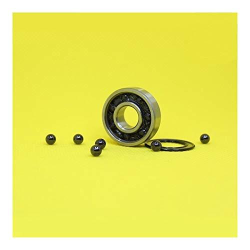 Liuxiaobo-rodamiento 6000RS híbrido Que Lleva cerámica 10x26x8mm ABEC-5 for Bicicletas Soportes Inferiores de recambios 6000 RS 2RS Si3N4 rodamientos de Bolas 6000-2RS 1PC