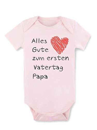BesserBay Baby Mädchen Strampler Body Kurzarm Erster Vater Rosa 9-12 Monate